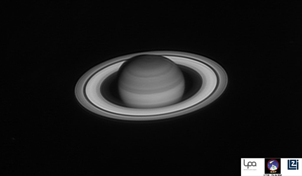aturn captured in J filter (1250nm with 200nm bandwidth) Courtesy of LPA/Le2i/S2P, IMCCE